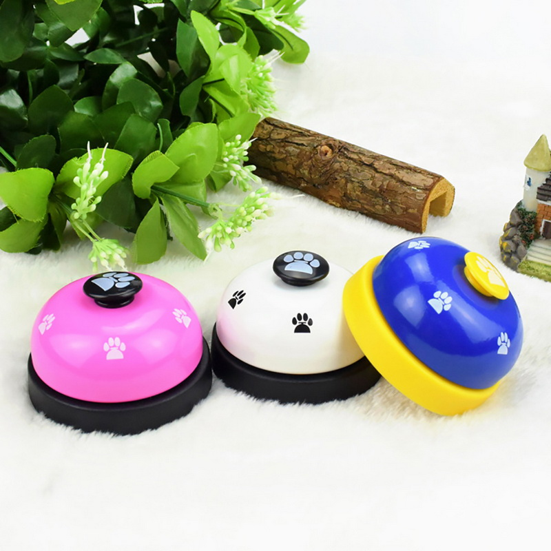 Pet Call Bell Dog Toys IQ Training Dog Cat Feeding Ringer Educational Toy Pets Toys Interactive Bell Eating Food FeederNew-3