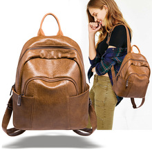 Fashion backpack women 2020 new versatile large-capacity soft leather student