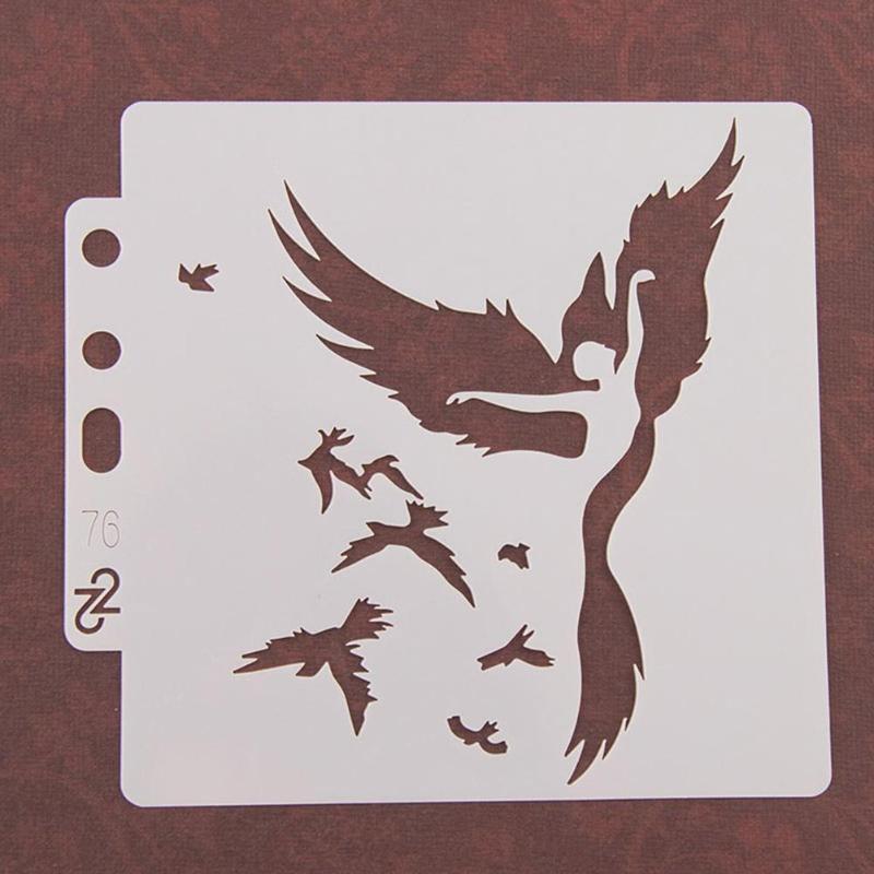 Hollow Lots Birds Layering Stencils Templates Scrapbook Craft Coffee Bar Decor \