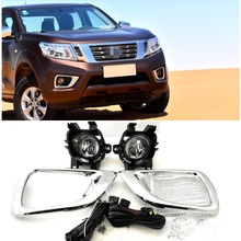 CITYCARAUTO FRONT DAY LIGHTS FOG LAMPS LIGHT FIT FOR NISSAN NAVARA NP300 FOG LAMP COVERS 2015 2018 PICKUP AUTO ACCESSORIES