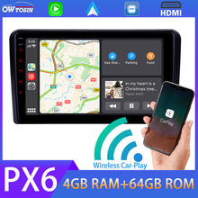 PX6 4G + 64G Android 9.0 Auto Multimedia Speler Bluetooth 5.0 Gps Navigatie Radio Voor Audi RNSE-PU A3 s3 RS3 5 * Usb TDA7850 Dab Ips(China)