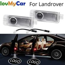 цена на 2X Auto Welcome Door Shadow Projection Courtesy Lamp Laser For Land Rover Range Rover Discovery Evoque Freelander 2 Car Styling