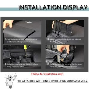 Image 4 - LMP H130 LMPH130 for Sony VPL HS50 VPLHS50 VPL HS51 VPL HS51A VPLHS51 VPLHS51A VPL HS60 VPLHS60 Replacement Projector Lamp