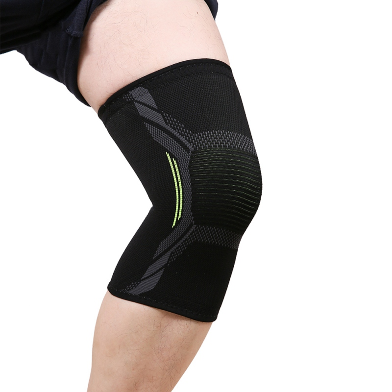 Sports Kneepad Men Pressurized Elastic Knee Pad Support Fitness Gear- Basketball Volleyball Brace Protector Pain Injury Recovery