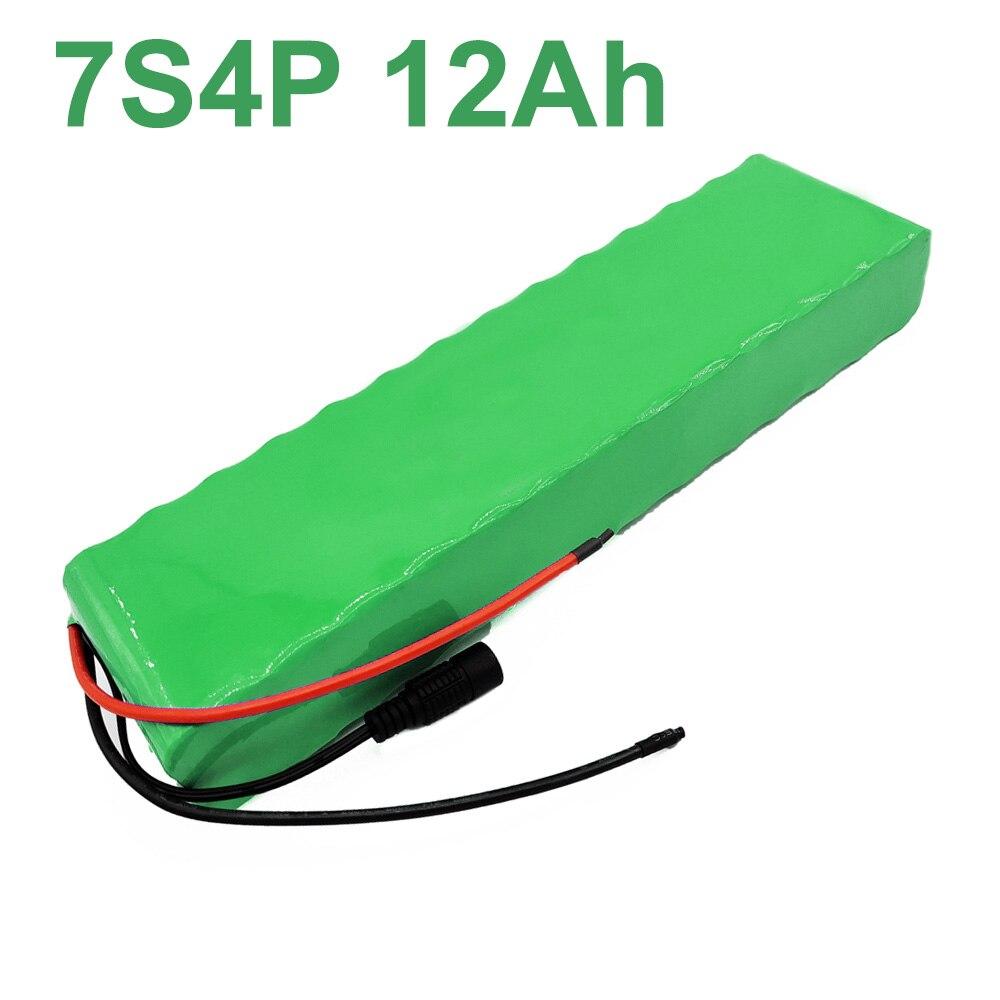 24V 12Ah 25,9 V 18650 Li-ion Paquete de batería e-bike bicicleta eléctrica 7S4P