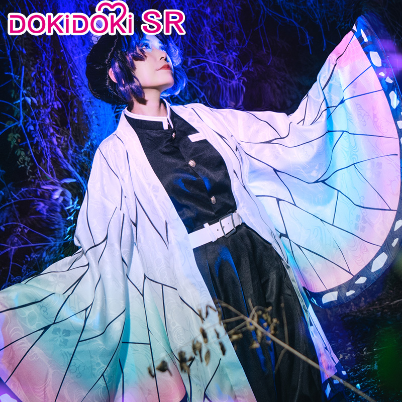 DokiDoki-SR Anime Demon Slayer: Kimetsu no Yaiba Cosplay Anime Kochou Shinobu Cosplay Costume Women Kimetsu no Yaiba Shinobu