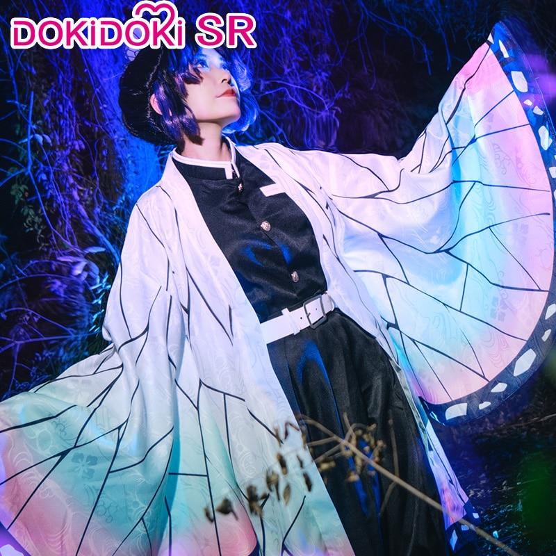 DokiDoki-SR аниме Demon Slayer Kimetsu no Yaiba Косплей Аниме Kochou Shinobu косплей костюм для женщин Kimetsu no Yaiba Shinobu