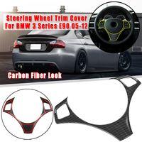 Углеродное волокно стиль салона автомобиля Руль украшения полосы рамка Крышка отделка наклейка для BMW 3 серии E90 E92 E93 2005-2012