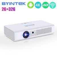 OVNI serie R19 BYINTEK proyector de 300 pulgadas 3D Smart Android WIFI Video LED portátil Mini proyector HD DLP completa 1080P HDMI 4K
