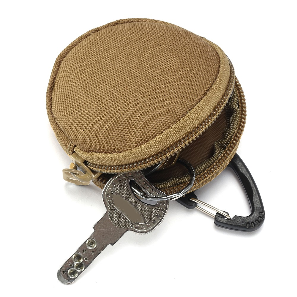 900D Tactical Wallet Pouch Portable Key Coin Purse With Hook Earphone Bag Mini Key Holder Pouch For Hunting Shooting Camping
