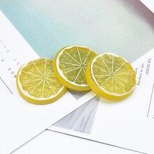 2 шт., искусственные фрукты, Искусственные пластиковые лимонные растения, Подарочная коробка diy, товары для дома, рождественские украшения для дома, вечерние наклейки на холодильник