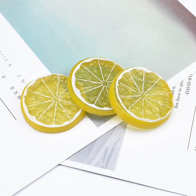 2PCS artificial fruits fake Plastic lemon plants diy gifts box household products Christmas home party decoration Fridge sticker