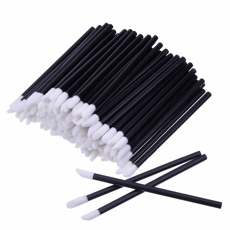 50pcs Make Up Brushes Set Mascara Wands Lip Brush Pen Cleaner Cleaning Eyelash Disposable Makeup Brush