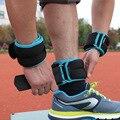 Novo 1 kg/par pesos de tornozelo de pulso ajustável saco de areia de ferro pesos correias com preenchimento de neoprene para o exercício fitness running