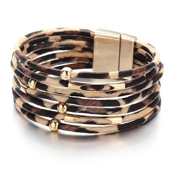 Women's Gold Leather Bracelet Bracelets Jewelry New Arrivals Women Jewelry Metal Color: CS1906100126