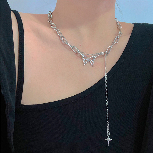 Kpop Gothic Style Butterfly Choker 3