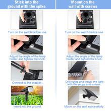 20LED Solar Light Outdoor Solar Lamps IP65 Waterproof Solar Powered Sunlight for Garden Decoration Cold White Solar Spotlights