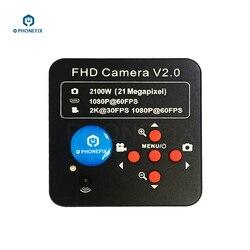 Profesjonalna głowica mikroskopowa kamera trinocular akcesoria do telefonu komórkowego naprawa spawalnicza 21MP HDMI mikroskopowa kamera adapter|Części i akcesoria do mikroskopów|Narzędzia -