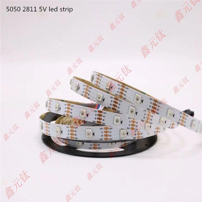 5V 2811 led strip 30leds 60leds 144leds/m RGB highlight White black circuit board Magic lantern article
