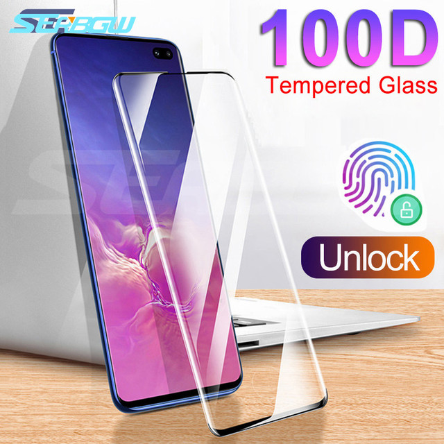 100D Full Cover Screen Protector Tempered Glass on the For Samsung Galaxy S8 S9 S10 Plus