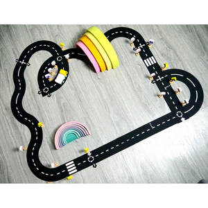 Game-Mat Floor-Carpet Track Play-Set Puzzles Room-Decor Educational-Learning-Toys Road