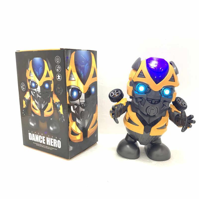 Дома Мстители Железный человек танцы робот танец герой 4 песни музыка вспышка огни предметы для вечеринки подарок Человек-паук перемещение Шмель капитан