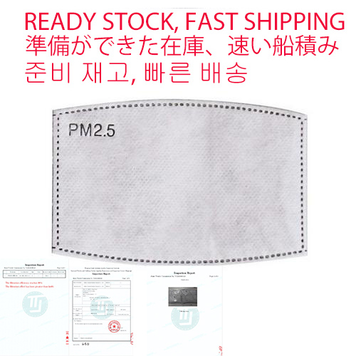 PM2.5 Filter Face Anti Haze Mouth Masks Breathing Insert Protective Mouth 5 Layers Mask Filter Anti Dust Mouth-muffle Filter