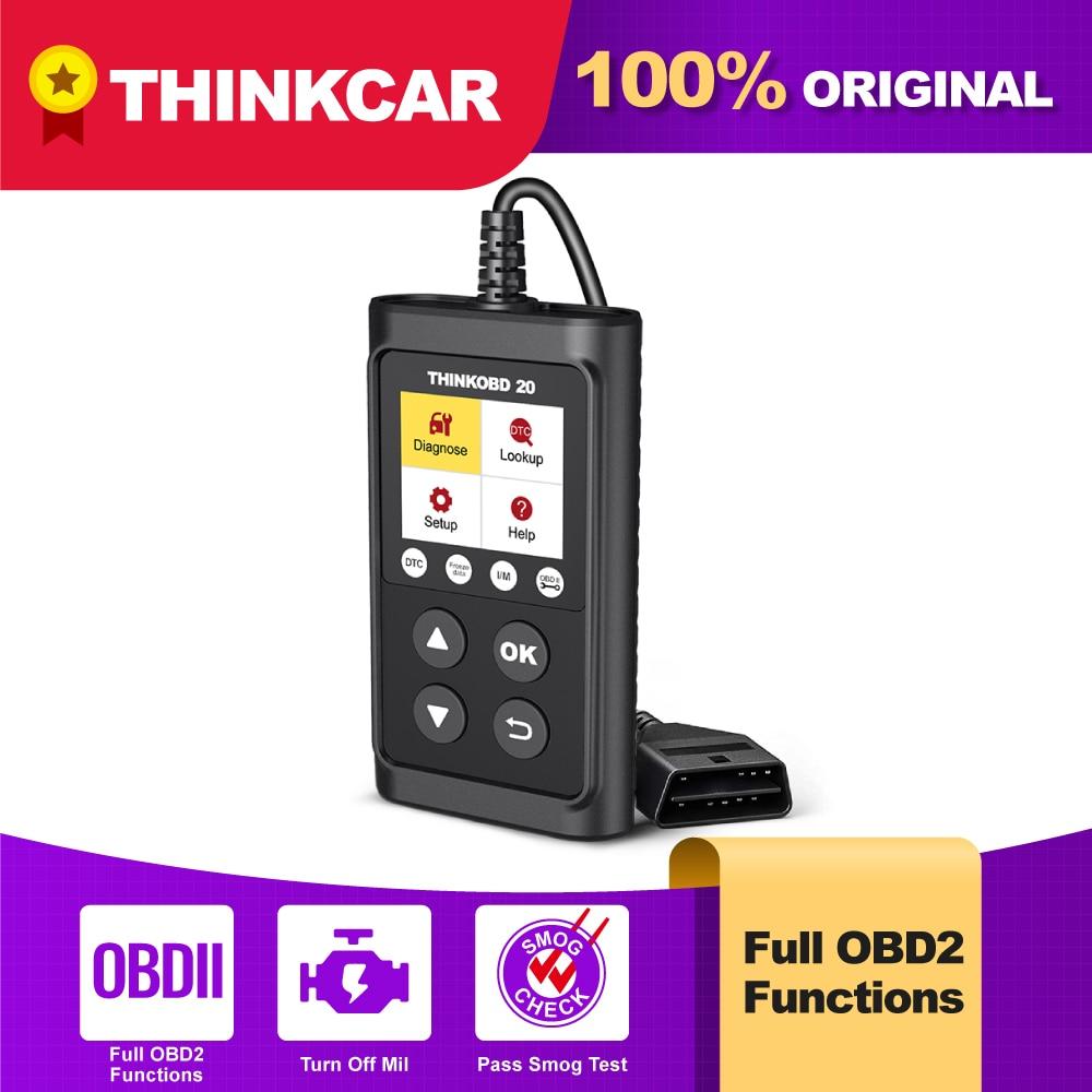 THINKCAR ThinkOBD 20 автомобильный диагностический инструмент OBD2 Автомобильный сканер двигателя светильник проверить поиск DTC читатель Кода Obdii PK ...