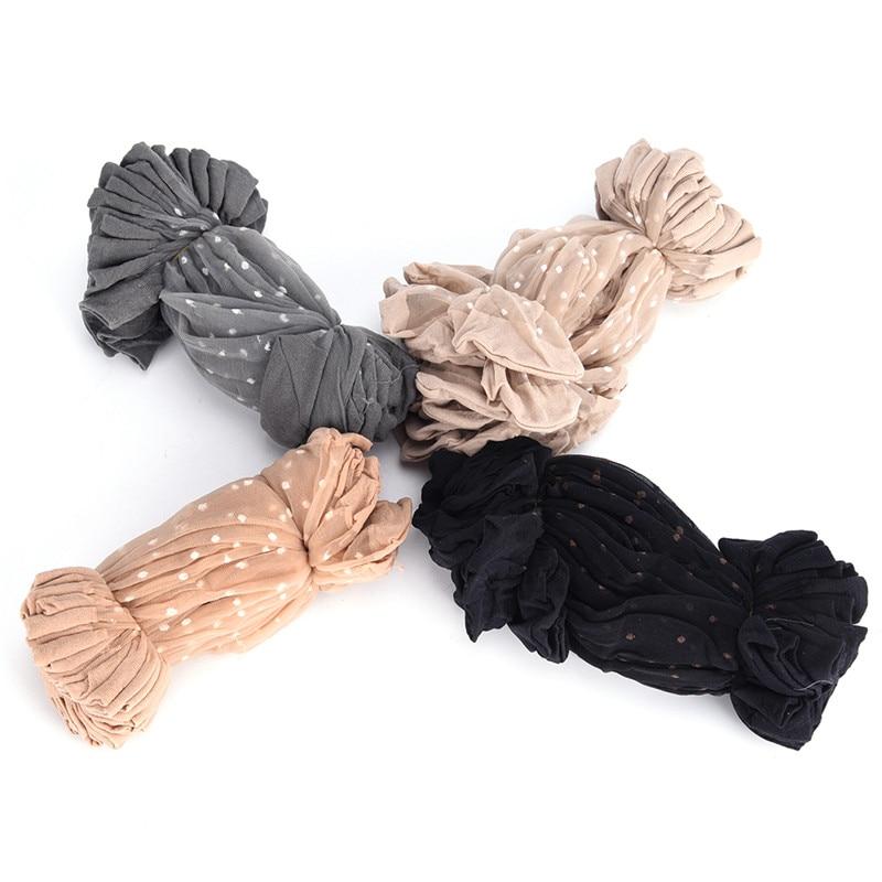 10 Pair Breathable Summer Sexy Skin Socks Pure Color Dots Women Girls Nylon Socks Elastic Ultra-thin Transparent Short Socks