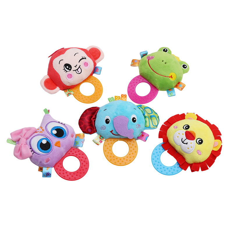 New Baby Hand Holding Rattles Mobiles  Soft Animal Infant Bed Stroller Hanging Doll Newborn Baby Plush Educational Classic Toys