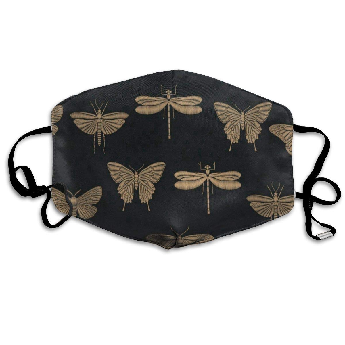 Adorable Mask Reusable Anti Dust Face Mouth Cover Golden Dragonfly Butterfly Mask Warm Windproof