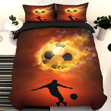 3D Printed Bedding Set Single Double Fire Football Game Duvet Cover Queen King  Twin Full Size Bed Linens Boys Teen Bedroom