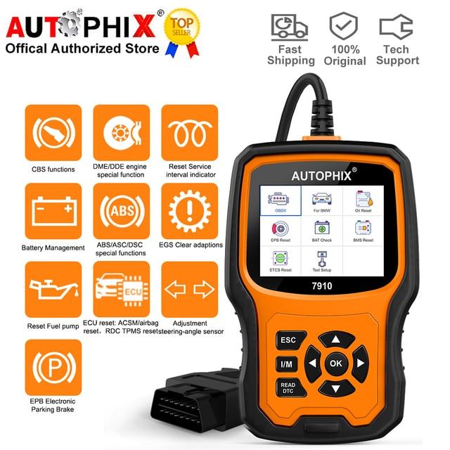 Autophix 7910 Auto Diagnose Werkzeuge für BMW MINI OBD2 Scanner Öl SAS Airbag TPMS Reset Alle System Automotive Scanner Freies update