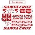 Наклейка на велосипедную раму Санта Круз аксессуары для велоспорта Бесплатная доставка виниловая Водонепроницаемая mtb велосипедная Рама н...