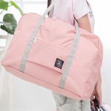 Travel-Bag Tote-Duffel-Set Hand-Luggage Overnight Folding Nylon Large-Capacity Women