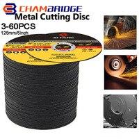 Discos de corte para Metal de 5 pulgadas, discos de lijado con aleta, rueda de amoladora angular, 125mm, 3-60 uds.
