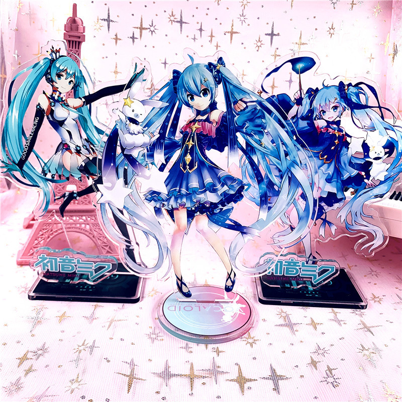 Singer Hatsune Miku Display Stand Figure Model Plate Holder Japanese Cartoon Figure Acrylic Collection Jewelry Christmas Gift