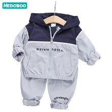 Medoboo Autumn Spring Baby Girl Boy Clothes Set Carters Newborn Clothing Sweatshirt Shelter Hoodie Coat Jacket Infant Pants
