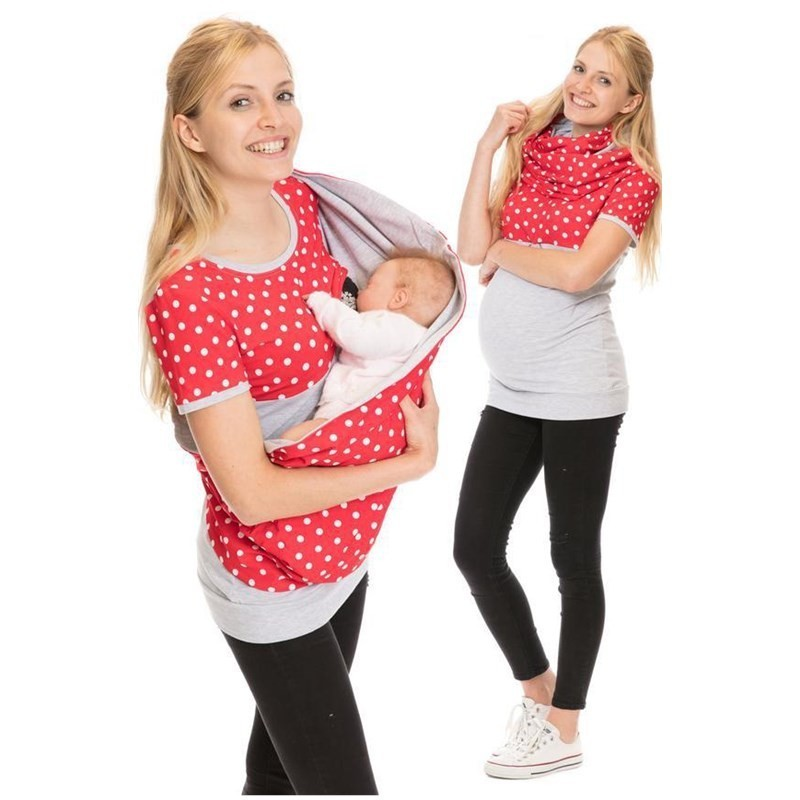 Fashion New Maternity Clothes Women Nursing Tops Printed Short-sleeved Tshirt Pregnant Women Lactating Breastfeeding Clothes