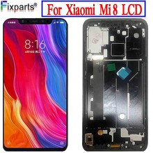 Lcd Display Voor Xiaomi Mi 8 Mi8 Lcd scherm 6.21 Tft Voor Xiaomi Mi 8 Lcd Touch Screen Digitizer lcd Assembly Scherm Getest