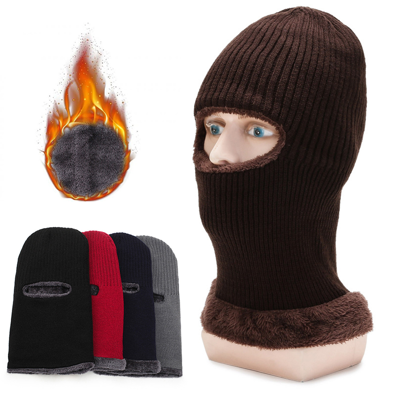 One 1 Hole Ski Full Face Mask Winter Cap Balaclava Tactical Fleeces Mask Hat