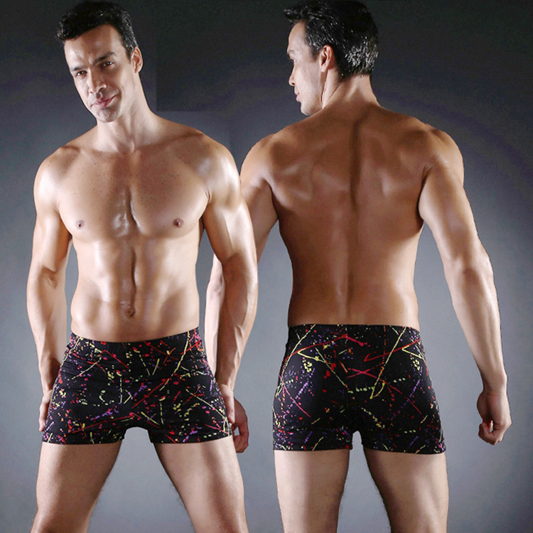 2019 New Style MEN'S Swimming Trunks Multi-color Printed Ouma Swimming Trunks Ouma Large Size Adjustable Size Swimming Trunks