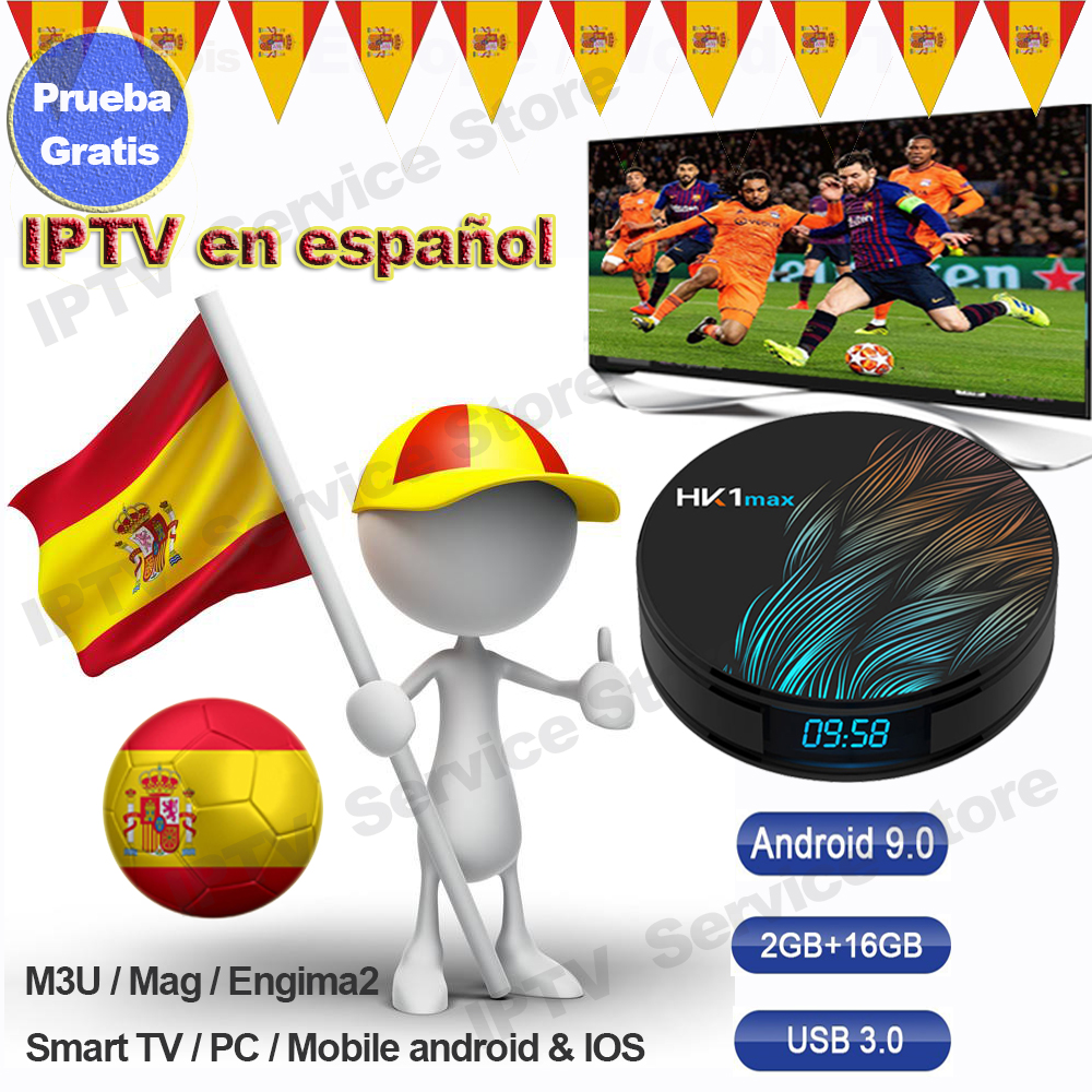 Iptv Spain España Espa A M3u Iptv Spainish Nederland Sweden Israel Code Abonnement Enigma2 Smart Tv Subscription HK1 Max Tv Box