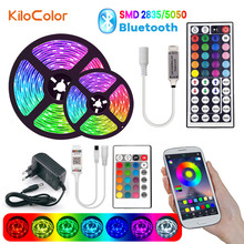 Led-Strip-Lights Luces Remote-Control-Adapter Bluetooth Flexible 2835 5050 Smd DC Led Rgb
