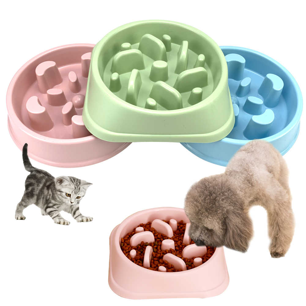 2020 ポータブル犬食品ボウルペット子犬遅いため給餌ボウル犬フィーダ遅く食べる皿ボウル猫食品犬用品プラスチック