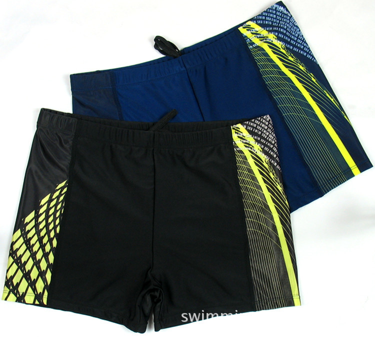 MEN'S Swimming Trunks Fashion Boxer Swimming Trunks Plus-sized Shorts Printed Swimming Pants Male STUDENT'S Hot Springs Pants