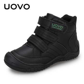 UOVO New Arrival School Shoes Mid-Calf Boys Fashion Kids Sport Outdoor Children Casual Sneakers for Size #26-36 - discount item  46% OFF Children's Shoes