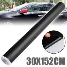 152CM X 30CM Matte Black Vinyl Auto Wrap Aufkleber Auto Motorrad Roller Adhesive Film Blatt Blase Freies