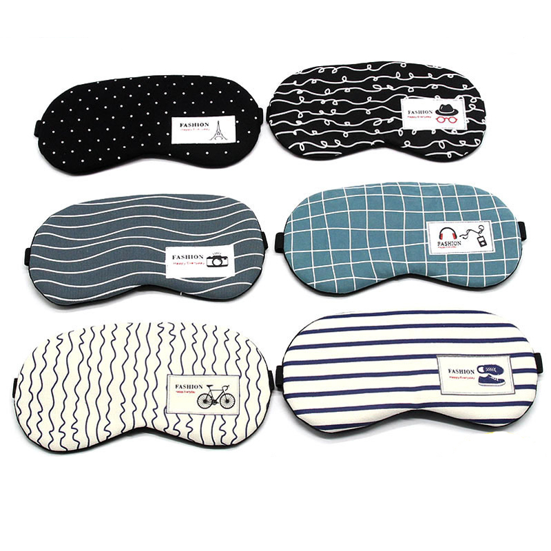 Cotton Linen Eyeshade Sleeping Mask Soft Eye Cover Sleep Mask Travel Eyepatch Rest Eye Band Sleeping Aid Eye Patch Blindfolds