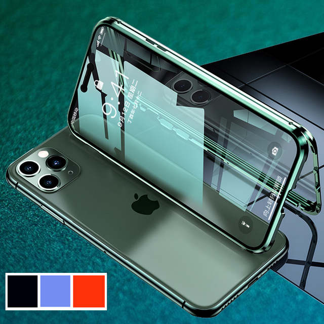 For iphone 11max pro case 11iphone iphone11promax promax11 iphon11 I hone 11  cover bumper 1 ip iph flip 11plus Magnetic Metal|Fitted Cases| - AliExpress